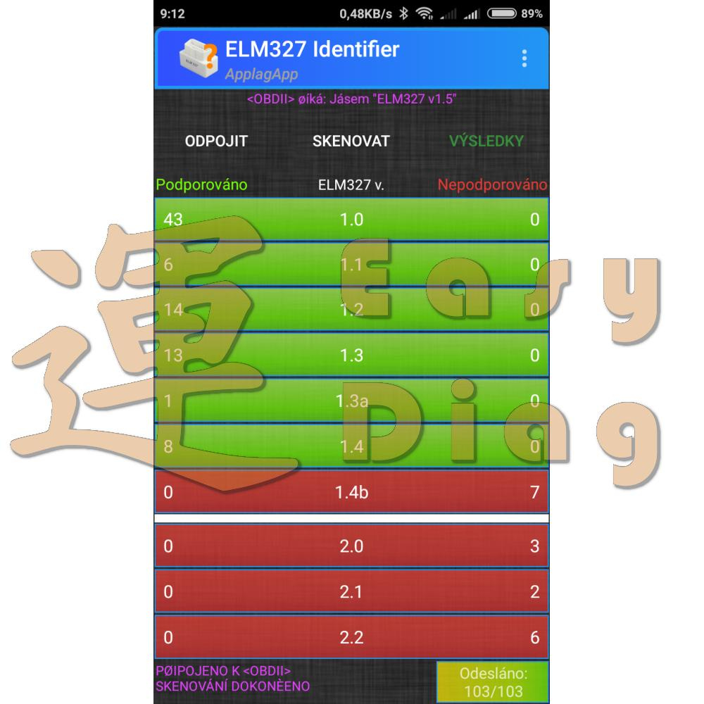 ELM 327 v1.4 (1.5) CAN BUS BT Android Bluetooth