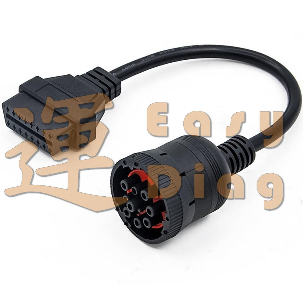 AVIA Cummins Deutsch J1939 9 pin redukce OBD2, 9pin