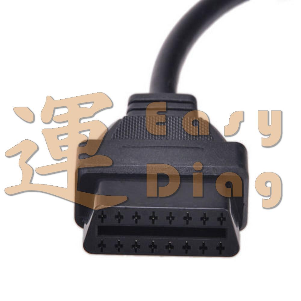 OBD 16 pin FEMALE konektor plně zapojen 16pin